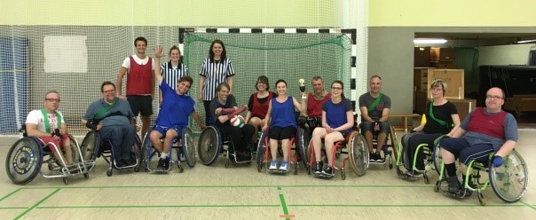 Gruppenfoto Rollstuhlsport